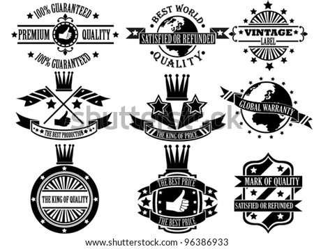 SET OF VINTAGE LABEL COLLECTION 3 - stock vector
