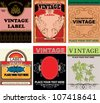 set of vintage labels - stock vector