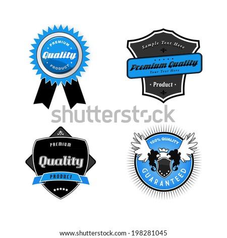 Set of vintage labels. - stock vector