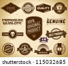 Set of vintage labels on the cardboard. Collection 15 - stock vector