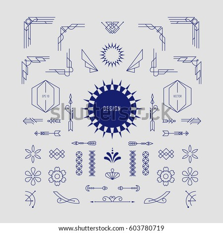 Art Deco Vintage Badge Logo Design Stock Vector 653534959 ...