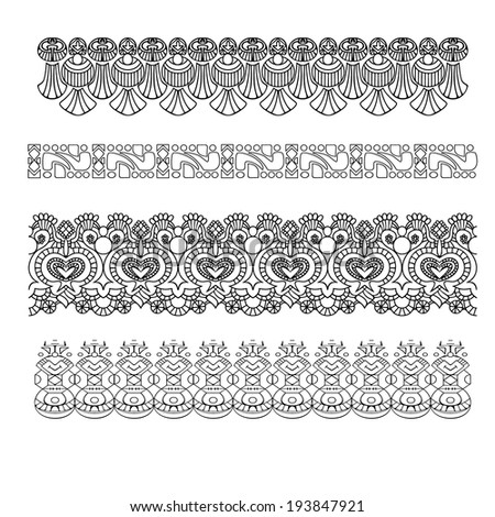 Set of vintage patterns, vector version