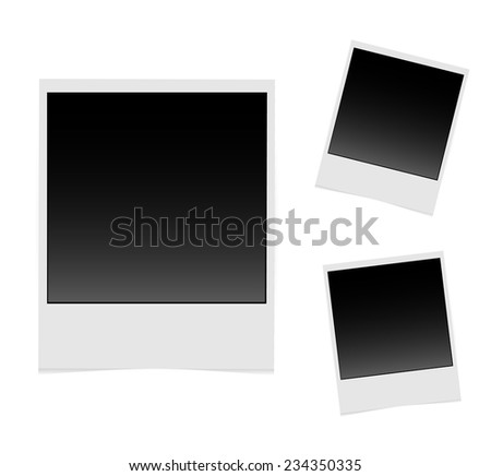 Set of vintage photo backgrounds for your design. Illustration isolated on white background. Vector EPS10 - stock vector