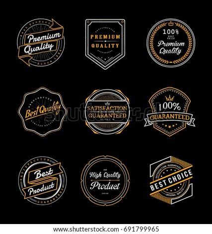 vintage product labels