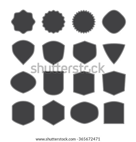 Set Vintage Retro Frames Shapes Forms Stock Vector 365672471 ...