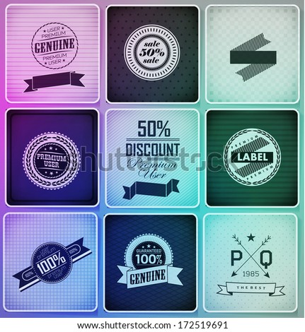 Set of vintage retro labels - stock vector