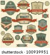 Set of vintage retro premium quality - stock vector