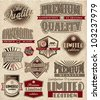 Set of vintage retro premium quality - stock photo