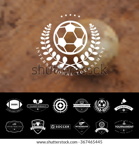 Set of vintage  sport badges and labels,Vector eps10 - stock vector