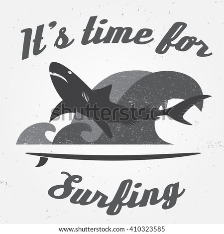 Vintage Surfing Tee Design Retro Tshirt Stock Vector ...