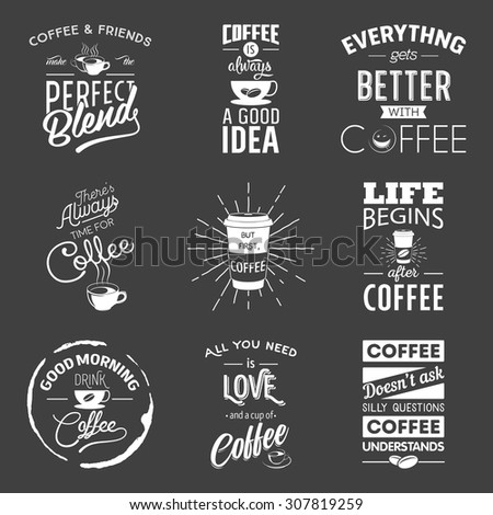 Set of vintage wine typographic quotes. Vector EPS8 illustration.  - stock vector