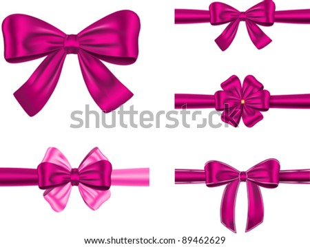 Set violet gift ribbons bows cards stock vector hd royalty free set of violet gift ribbons with bows for cards and decorations vector illustration negle Gallery