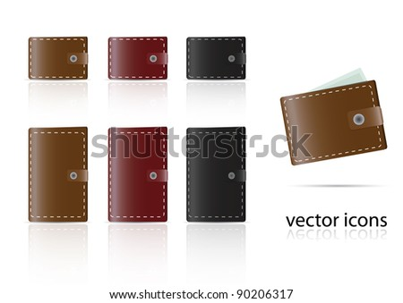 set of wallet icons. vector illustration
