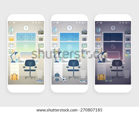 Set of wallpapers for mobile phone.  -  Stock Illustration - stock vector