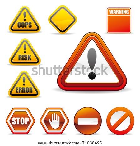 set of warning sign - stock vector