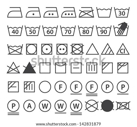 Laundry care symbol stock photos images pictures for Clean significato