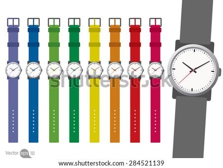 Set of Watch. Vector - stock vector