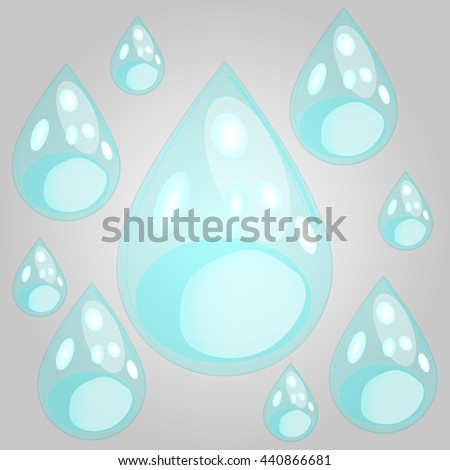Set of Water Bubbles - stock vector