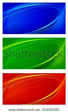 Set of wavy backgrounds