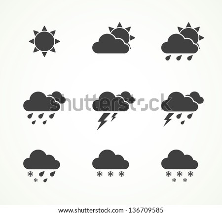 set of weather icons eps8 - stock vector