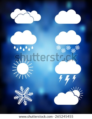 Set of weather icons. EPS10 vector - stock vector