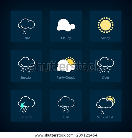 Weather Symbols Partly Cloudy
