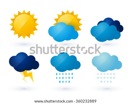 set of weather vector icons - stock vector