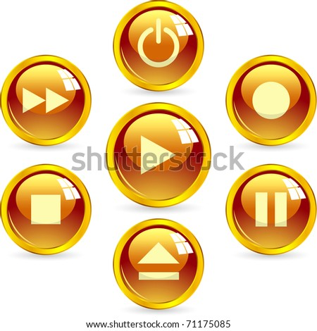 Set of web buttons. - stock vector
