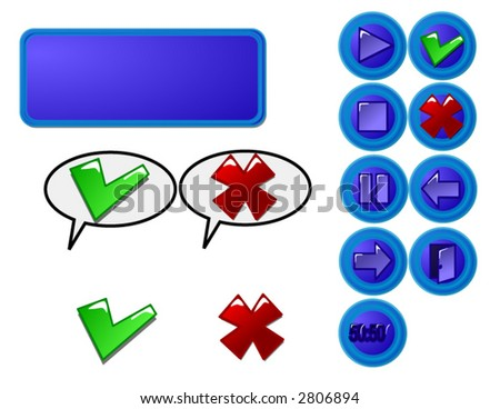 Set of web buttons for your designs. In vector format will size to any pixels without loss of quality - stock vector