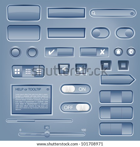 Set of web elements - vector file - stock vector