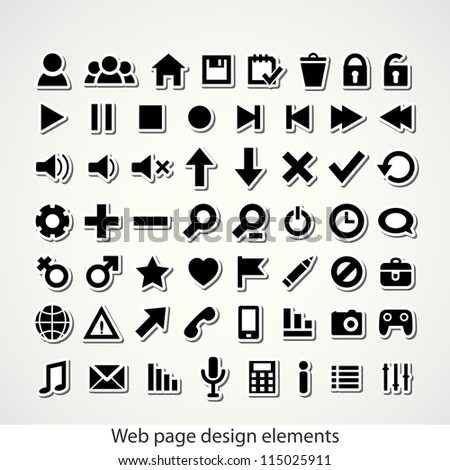 Set of Web Icon. Vector illustration.