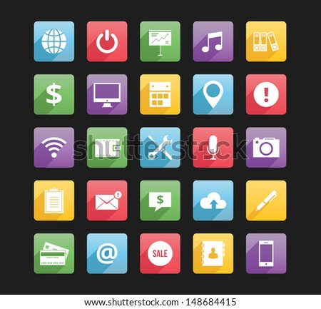 Set of Web Icons 2 - stock vector