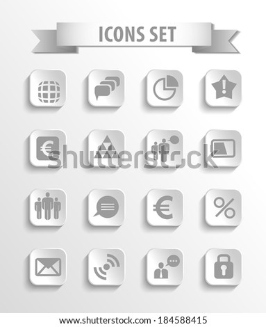 Set of web icons can be used for invitation, congratulation or website