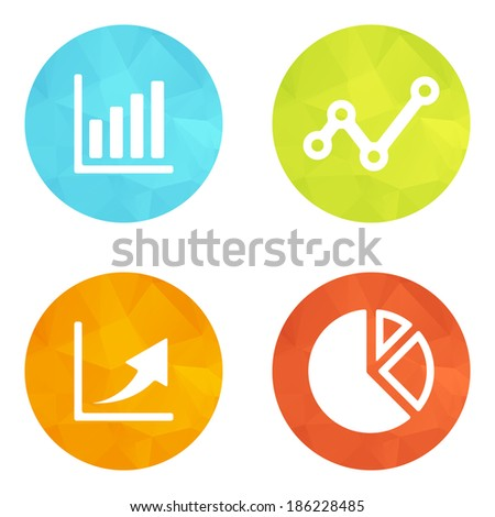 Set of web icons or flat design elements. Eps 10 vector illustration. Used transparency layers for elements of layout - stock vector