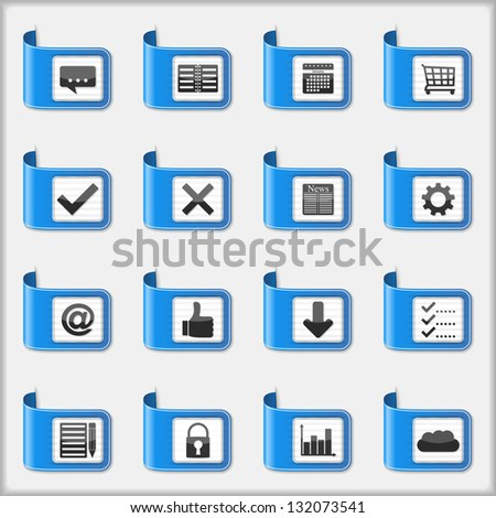 Set of web icons, vector eps10 illustration - stock vector