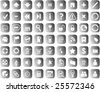 Set of WEB icons with common symbols - stock vector