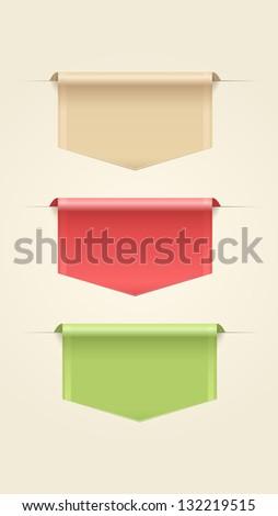 Set of Web Ribbons - stock vector
