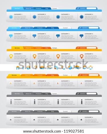 Set of Website User Interface - stock vector