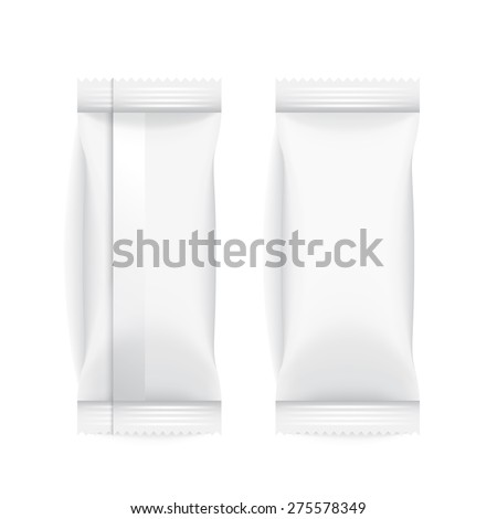 Set of White Blank Foil Packaging : Vector Illustration EPS10 - stock vector