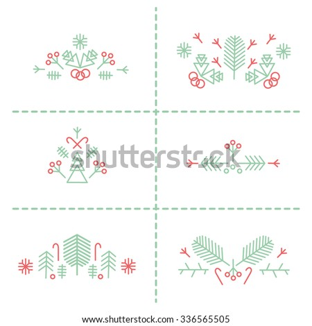 Set of winter christmas compositions 2