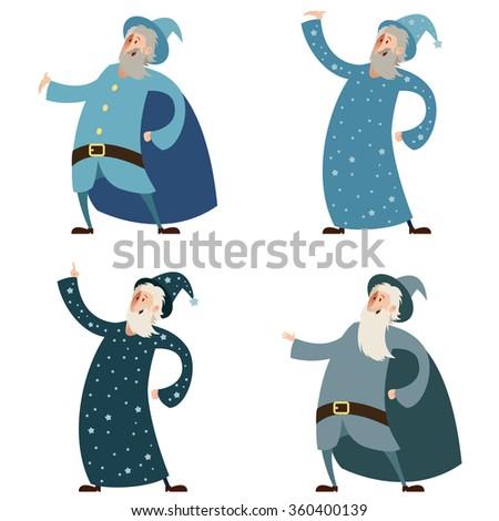 Set of wizards - stock vector