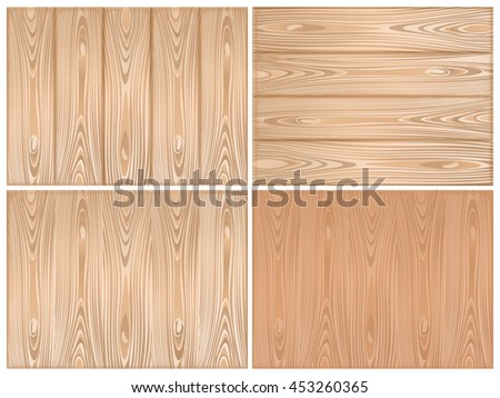 Set of wooden backgrounds. Wood texture for you design. Vector illustration - stock vector