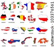 Set of World Flags - Pack 1 - stock photo