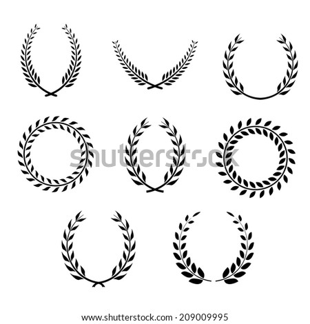set of wreaths. vector eps8 - stock vector