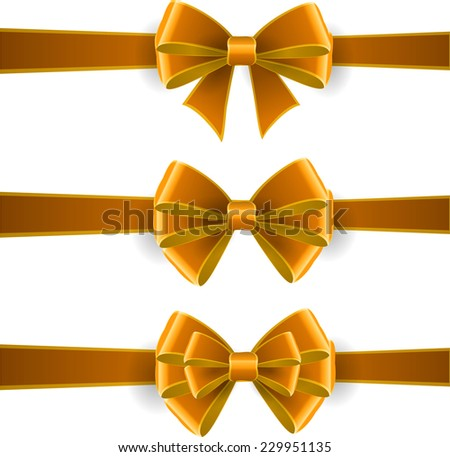 Set of yellow bows