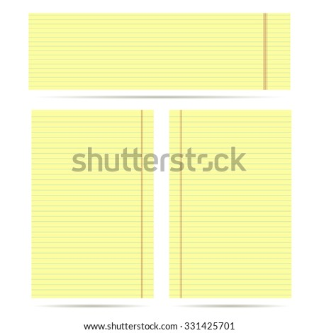 set of yellow sheet for Business - stock vector