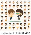 Set of 50 young people with hipster fashion style , eps10 vector format - stock