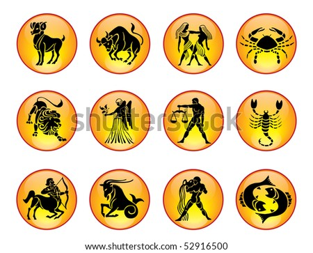 Set of Zodiac Icons