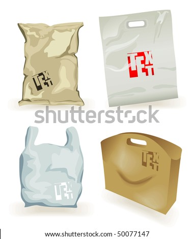 set  packages - stock vector