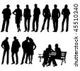 Set people. This image is a vector illustration and can be scaled to any size without loss of resolution - stock vector